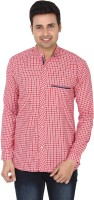 V. Men's Wear - V.Kfashion Men's Checkered Casual Red Shirt