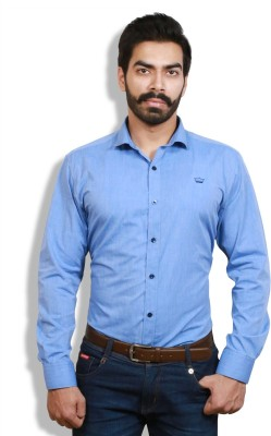 Goswhit Men's Solid Casual Light Blue, Blue Shirt