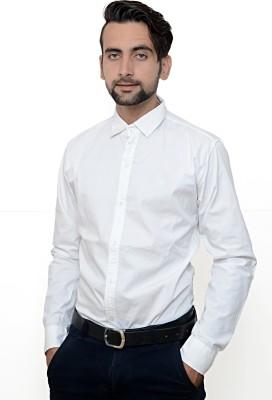 Hartmann Men's Solid Casual White Shirt