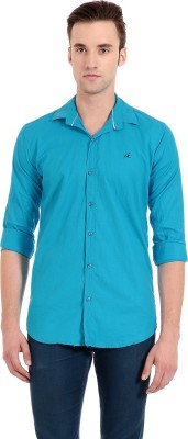 Camrick Men,s Solid Casual Light Blue Shirt