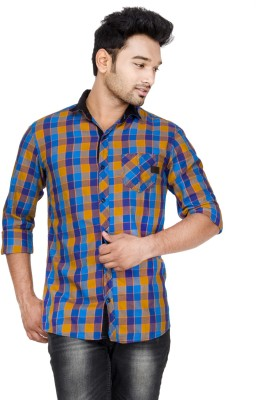 Loopy Men's Checkered Casual Multicolor Shirt