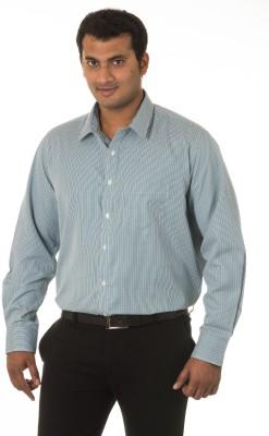 West Vogue Men's Checkered Formal Green Shirt