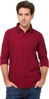 Mode Manor Formal Shirts (Men's) - Mode Manor Men's Striped Formal Red Shirt