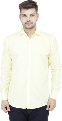 Movitex Men's Solid Casual Reversible Yellow Shirt