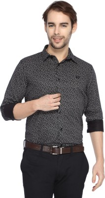 Derby Jeans Community Men's Printed Casual Black Shirt