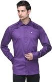Fusion Freak Men's Solid Casual Purple S...