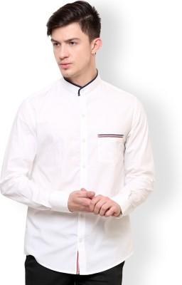 Blackbuk India Men's Solid Casual White Shirt