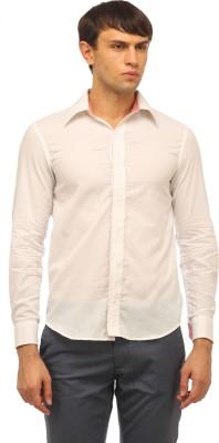 Cation Men's Solid Formal White Shirt