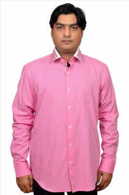 Adam In Style Men's Solid Casual Pink Shirt