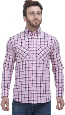 Fash-A-Holic Men,s Checkered Casual Pink Shirt