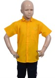 Puppet Nx Boys Solid Casual Yellow Shirt