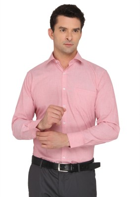 Donear NXG Men's Solid Formal Red Shirt