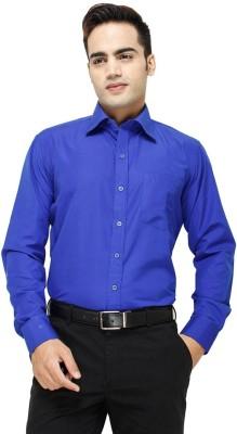 Vkg Men's Solid Formal Light Blue Shirt