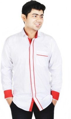 Hd Rascals Men's Solid Casual White Shirt