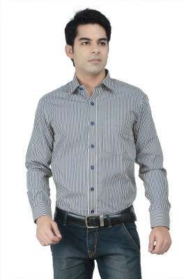 Alpha Centauri Men's Checkered Formal Grey Shirt