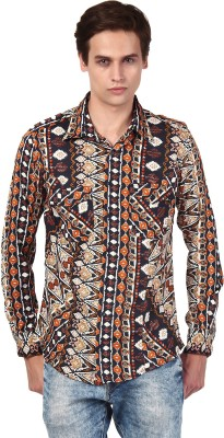 Oxolloxo Men's Printed Casual Multicolor Shirt