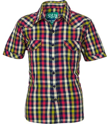Slub Junior By Inmark Boy's Checkered Casual Red Shirt