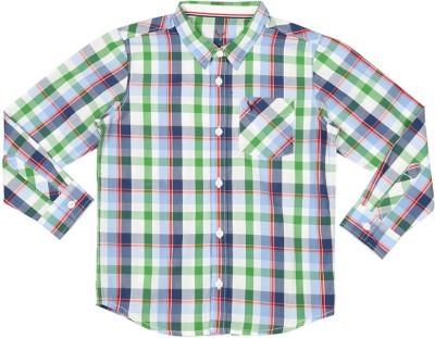 Allen Solly Boy's Checkered Casual Multicolor Shirt