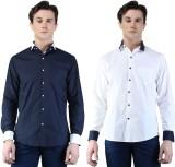 Magnoguy Men's Self Design Casual Blue, ...