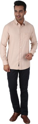 Tasho Zaara Men,s Solid Casual Brown Shirt