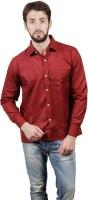 Alnik Formal Shirts (Men's) - Alnik Men's Solid Formal Maroon Shirt