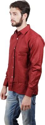 FDS Men's Solid Formal Maroon Shirt