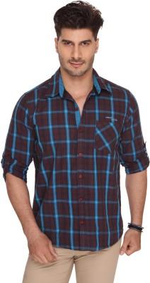 Ramarrow Men's Checkered Casual Brown Shirt