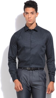 Arrow New York Men's Printed Casual Dark Blue Shirt
