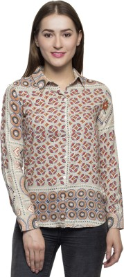 One Femme Women's Printed Formal Multicolor Shirt