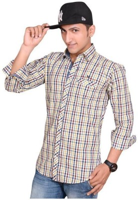 Anry Men's Solid Casual Maroon Shirt