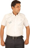 Ignu Men's Solid Casual White Shirt