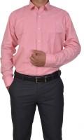 Trivistup Formal Shirts (Men's) - TRIVISTUP Men's Checkered, Solid Formal Pink Shirt