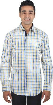 ELIXL INDIA Men's Checkered Casual Yellow, Multicolor Shirt