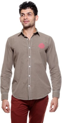 Tog Men's Solid Casual Brown Shirt
