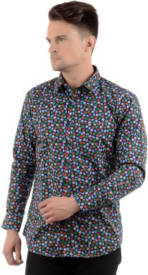 Cairon Men's Printed Casual Blue Shirt