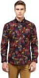 The Vanca Men's Printed Formal Red Shirt
