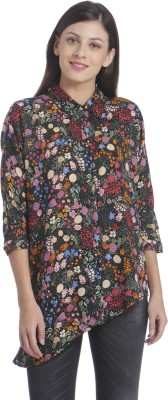 Only Womens Printed Casual Black Shirt