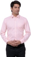 Dewberrys Formal Shirts (Men's) - Dewberrys Men's Striped Formal Orange Shirt