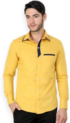 Blackbuk India Men's Solid Casual Beige Shirt