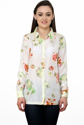 Rena Love Women's Floral Print Formal Multicolor Shirt