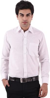 AA CORPORATION Men's Self Design Casual Pink Shirt