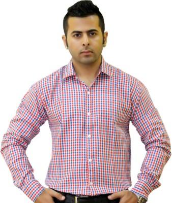 Togsun Men's Checkered Casual Red Shirt