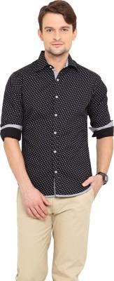 Western Vivid Men's Printed Casual Black Shirt