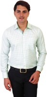 Real Value Formal Shirts (Men's) - Real Value Men's Checkered Formal White Shirt