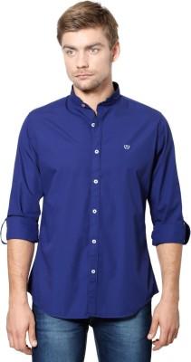 Van Heusen Men's Solid Casual Blue Shirt
