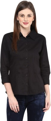 Color Cocktail Women's Printed Casual Black Shirt