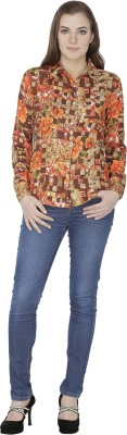 Famous by Payal Kapoor Women's Printed Casual Multicolor Shirt