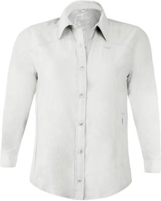 Wildcraft Women's Solid Casual White Shirt