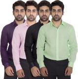 Deekshavastra Men's Solid Casual White S...