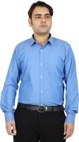 Mani Formal Shirts (Men's) - MANI Men's Solid Formal Blue Shirt